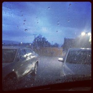 rain parking lot